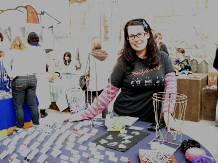 Kirsteen makes jewellery from ex-costume jewellery from West Germany and Japan.
